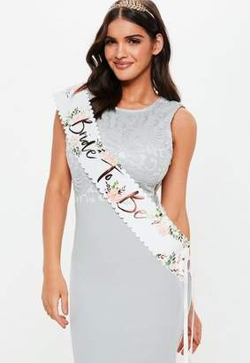 Missguided Gold Bride to Be Sash