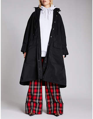 Balenciaga Ladies Black Opera Raincoat