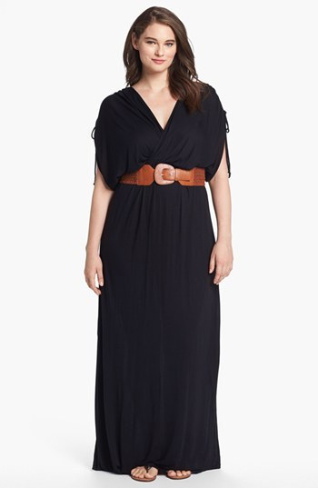 Nordstrom FELICITY & COCO Belted Maxi Dress (Plus Size Exclusive)