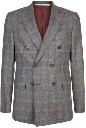 Pal Zileri Wool Check Suit Jacket