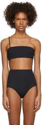 Rudi Gernreich Black One Strap Bandeau Bikini Top