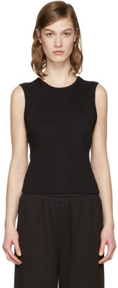 Alexander Wang Black Open Back Twist Tank Top