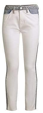 Joie Women's Gracelyn Two-Tone Skinny Ankle Jeans