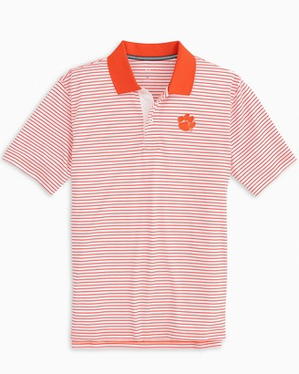 Southern Tide Clemson Tigers Pique Striped Polo Shirt