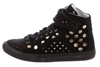 Pierre Hardy Laser Cut High-Top Sneakers