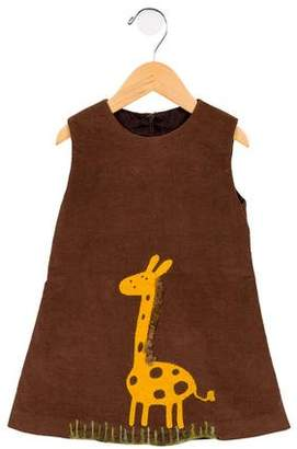 Isabel Garreton Girls' Corduroy Giraffe Dress