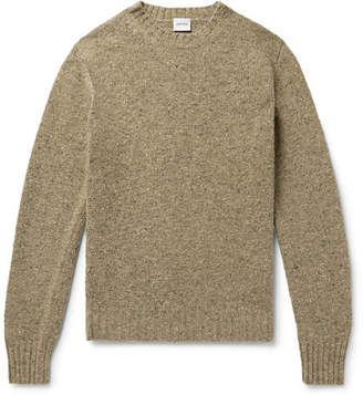 Aspesi Slim-Fit Mélange Slub Wool Sweater