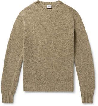 Aspesi Slim-Fit Mélange Slub Wool Sweater