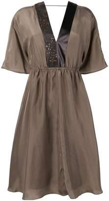 Brunello Cucinelli V-neck midi dress