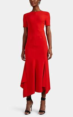 Victoria Beckham Women's Crepe Open-Back Midi-Dress - Tomato