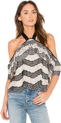 J.o.a. Halter Neck Lace Top
