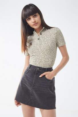 Urban Outfitters Brooke Button-Down Short Sleeve Top