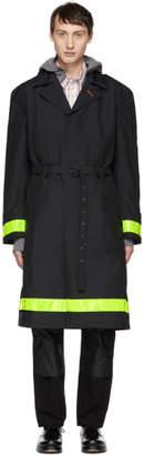 Junya Watanabe Black Gore-Tex® Reflective Ripstop Trench Coat