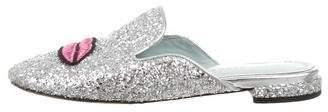Chiara Ferragni Glitter Round-Toe Mules
