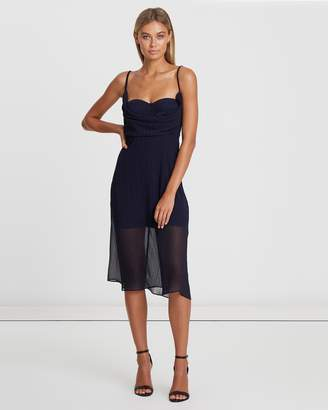 Jody Cowl Overlay Dress