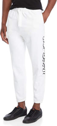 Second/Layer White 96 Tears Embroidered Sweatpants