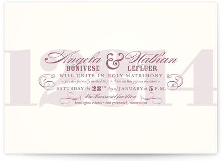 Bold Numerals Print-It-Yourself Wedding Invitations