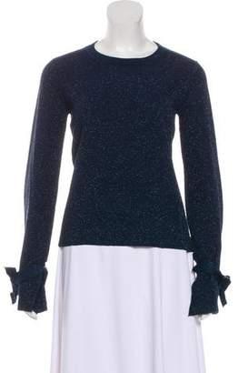 White + Warren Metallic Knit Sweater