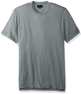Velvet by Graham & Spencer Men's Short Sleeve High Low Hem Crew Neck T-Shirt