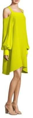 Tibi Cold-Shoulder Strappy Dress
