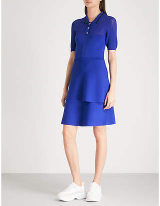 Claudie Pierlot Striped-collar knitted dress