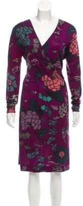 Etro Floral Print Knee-Length Dress