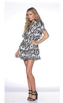 Ministry of Style Luna 1/2 Sleeve Mini Dress