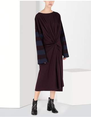 Maison Margiela Two-Tone Tie Knot Midi Dress
