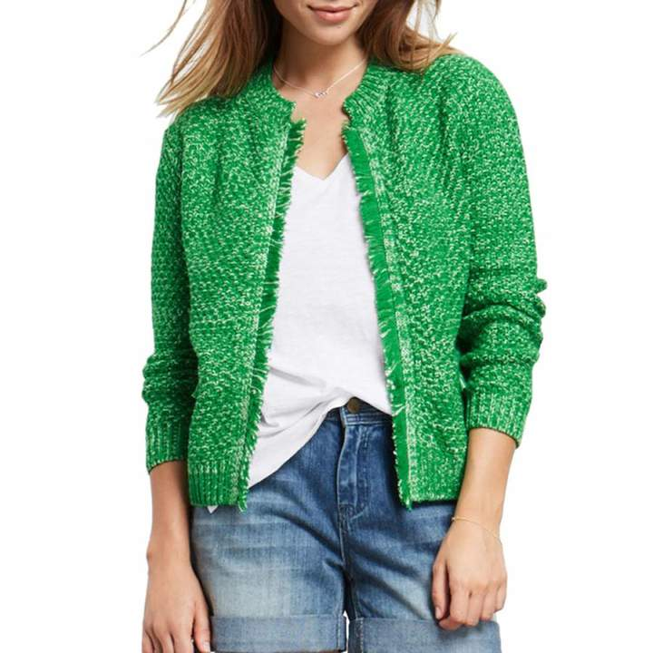 Green/White Basket Stitch Jacket