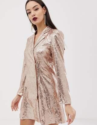 Club L London sequin blazer dress