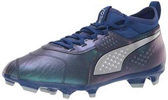 Puma Men's ONE 3 LTH FG Soccer Shoe Sodalite Blue Silver-Peacoat
