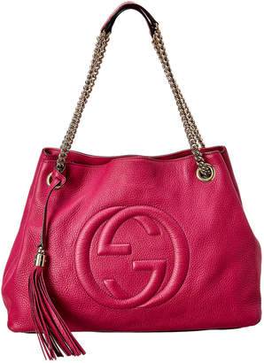 Gucci Pink Patent Leather Chain Soho Bag