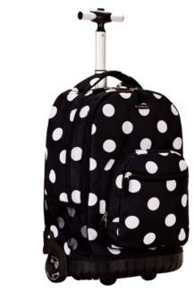 """Rockland Dots 19"""" Rolling Backpack"""
