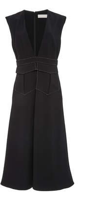 Partow Nora Matte Crepe Dress