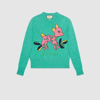 Gucci (グッチ) - フォーン(コジカ) ウールセーター