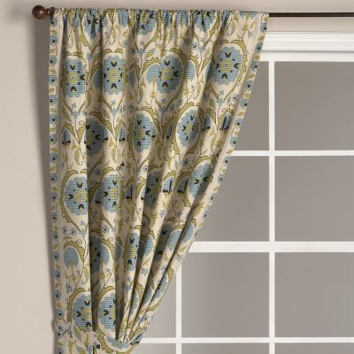 Antique Floral Curtain Panel