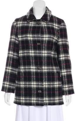 Burberry Plaid Wool Jacket