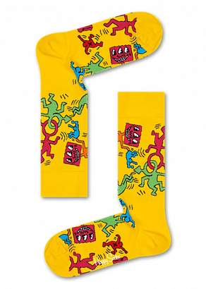 Happy Socks Keith Haring Collection Unisex All Over Print Socks (One Pair)