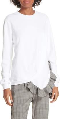 Clu Ruffle Asymmetric Sweatshirt
