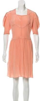 Miu Miu Silk Pleated Dress w/ Tags