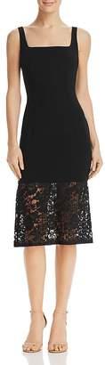 Black Halo Arabelle Lace-Hem Dress