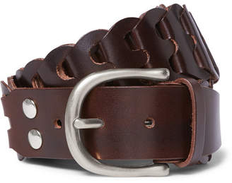 Tom Ford 4cm Woven Leather Belt - Men - Chocolate