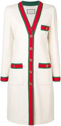 Gucci web trim coat