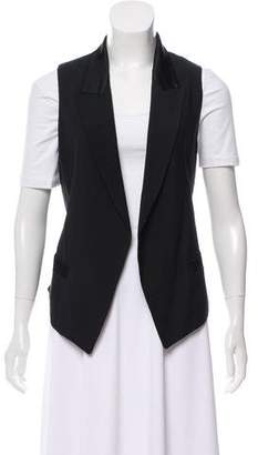 Alexander Wang Peak-Lapel Lace-Up Vest