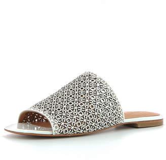 Robert Clergerie Iana Laser-Cut Slide Sandal