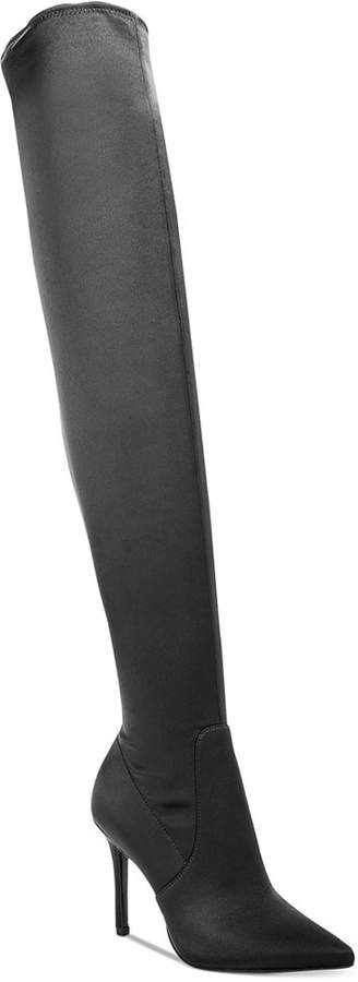 Aldo Sailers Satin Over-The-Knee Boots Women's Shoes