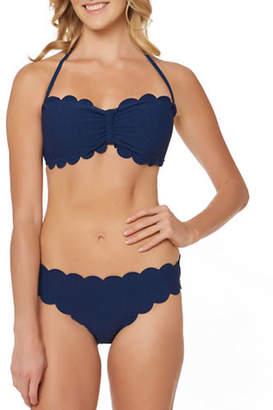 Jessica Simpson Scalloped Bandeau Bikini Top