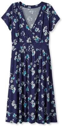 L.L. Bean L.L.Bean Women's Summer Knit Dress, Short-Sleeve Multifloral