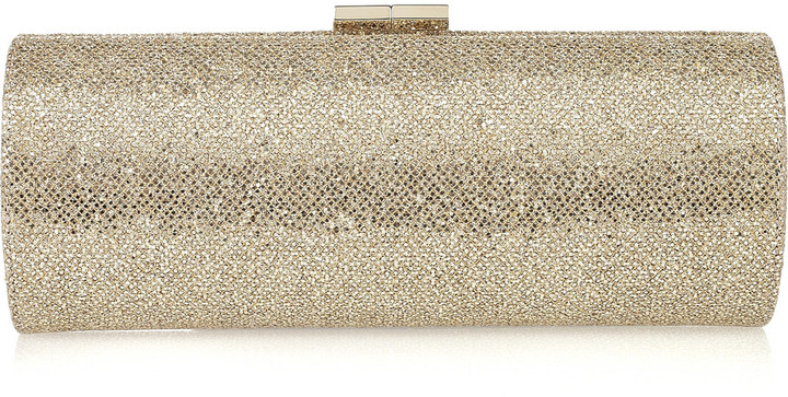 Jimmy Choo Tube glitter-twill clutch