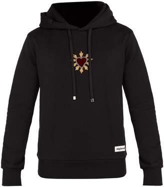 Dolce & Gabbana Heart-appliqué hooded cotton sweatshirt